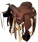 Selle western sans Coton Amarillo + FENDER +, Étrier, marron, 15' (38,1 cm)