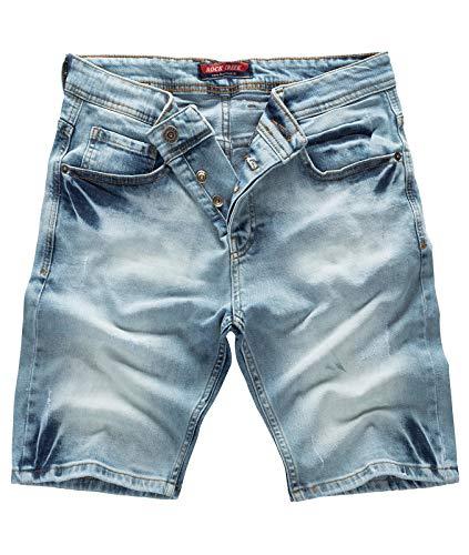 Rock Creek Herren Shorts Jeansshorts Denim Stretch Sommer Shorts Regular Slim [RC-2126 - Light Blue W33]