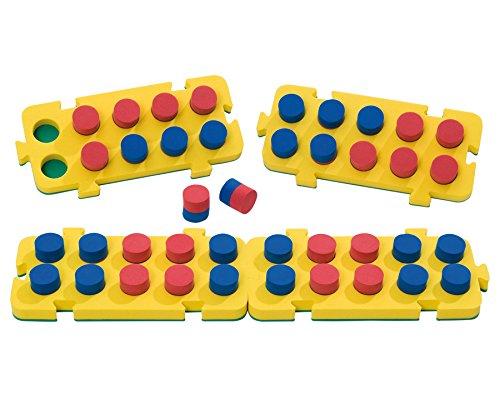 SI Manufacturing Zehner-Stöpselplatten - Mathematik Rechnen Lernen Zahlen Schule Kinder Schüler Unterricht Lehrmittel trainieren üben Übungen Rechenaufgaben Mathematikaufgaben