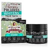 My Magic Mud - Whitening Tooth Powder, Polishing, Brightening, Charcoal, Spearmint, 1.06 oz. (150 uses)