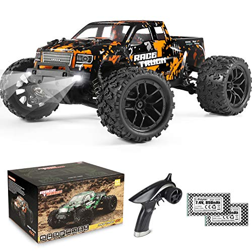 1:18 Scale RC Monster Truck 18859E 36km/h Speed 4X4 Off Road Remote Control Truck,Waterproof Electric Powered RC Cars All Terrain Toys Vehicles with 2 Batteries,Excellent Xmas Gifts for kid and Adults