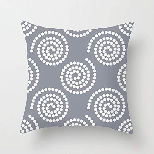 PPMP Funda de Almohada de Tiro Gris nórdico Funda de cojín geométrico Floral Retro para la decoración del sofá del hogar Funda de Almohada Funda de cojín A22 45x45cm 1pc
