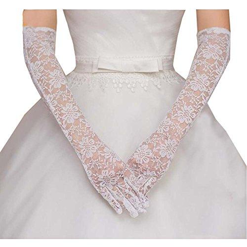 Gants de mariée en dentelle de style long Gants de mariée en dentelle