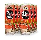 Molinera Gazpacho con Quinoa - Paquete de 6 x 1000 ml - Total: 6000 ml