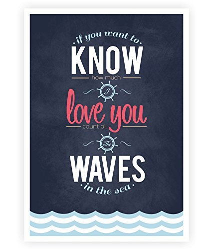 If You Want to Know How Much I Love You Inspirational and Love Quote Poster in A3 (16.5