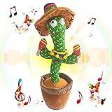 LANZIMOOD TikTok Dancing Cactus Plush Toy USB Charging,Sing 120pcs Songs,Recording,Repeats What You...