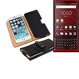 Artificial Leather Belt Bag For Blackberry KEY2 Red