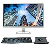 HP 27er 27 Inch FHD IPS LED-Backlit LCD Ultra Thin Monitor Bundle with HDMI, MK270 Wireless Keyboard and Mouse Combo, Gel Pad