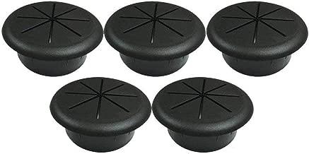 ANZESER 2(50.8mm) Flexible Desk Grommet - Black - 5 Pack