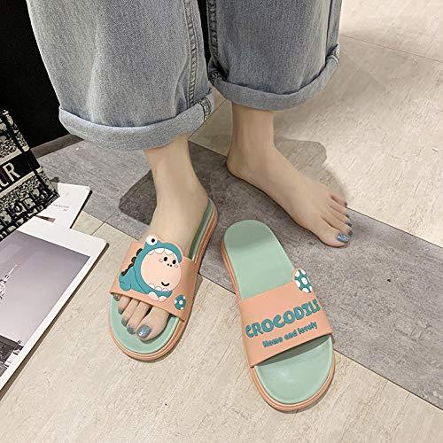 TDYSDYN Zapatillas Antideslizantes para Mujeres,Zapatillas de baño Antideslizantes en el baño y Zapatos de Masaje de Suela Gruesa-Rosa 5_36/37