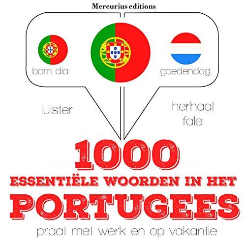 Diseño de la portada del título 1000 essentiële woorden in het Portugees