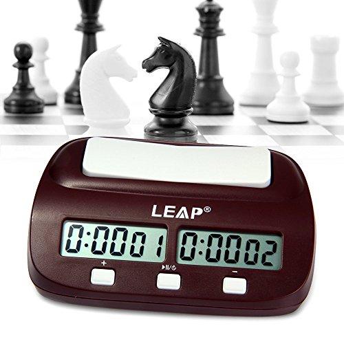 NusGear Reloj de Ajedrez Digital Profesional para el Ajedrez Chino, Ajedrez Internacional y I-GO como Cronómetro de Cuenta Ascendente y Temporizador de Cuenta Regresiva Durante 10 Horas