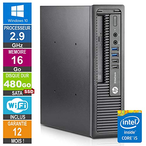Little Phoenix PC hp 800 G1 Usdt Core i5-4570S 2.90GHz 16 GB/480Go SSD Wifi W10
