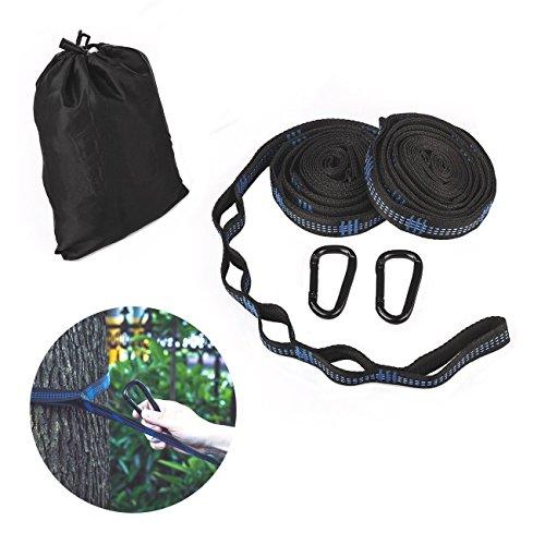 Ecent Hammock Tree Hanging Straps(Set of 2) W 2 Heavy Duty Lock Snap Hook Carabiners Carrying Bag, Fits All Hammocks