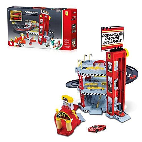Bburago Ferrari Double Lane Racing Garage 15656096 - Coche de Juguete