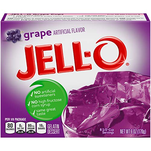 JELLO Grape Gelatin Dessert Mix (6oz Box)