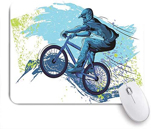 Marutuki Gaming Mouse Pad Rutschfeste Gummibasis,Bike BMX von Sportsman Cycling Extreme Bike,für Computer Laptop Office Desk,240 x 200mm