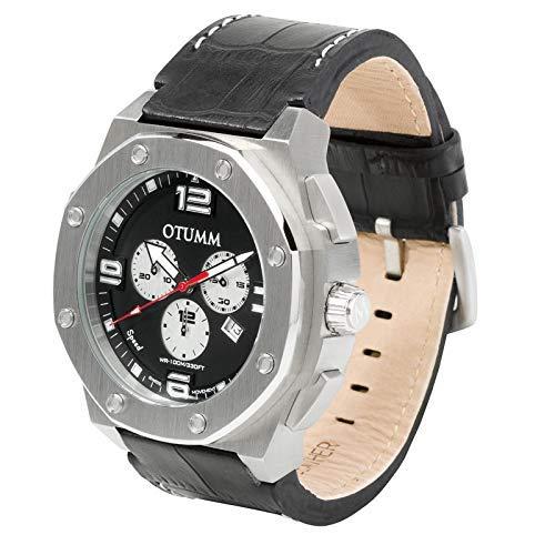 Otumm Speed - Reloj cronógrafo unisex (53 mm, correa de piel)
