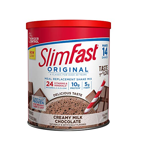 SlimFast Original Creamy Milk Chocolate Meal Replacement Shake Mix - Weight Loss Powder - 12.83 Oz. - 14 Servings - Pantry Friendly
