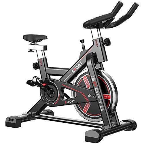 YLLN Bicicleta estática de Ciclismo Indoor, Volante con transmisión Directa por Correa, Resistencia magnética, manivela de 3 Piezas, para Gimnasio de Cardio en casa con cómodo cojín del Asiento, PRES