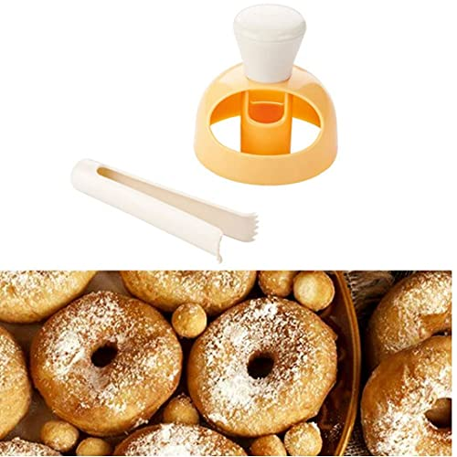 1PC dona molde de la torta con sumergir alicates bricolaje dona cortador de la galleta del molde sello Postres cortador Donut molde del fabricante de la herramienta hornada de la cocina para la cocina