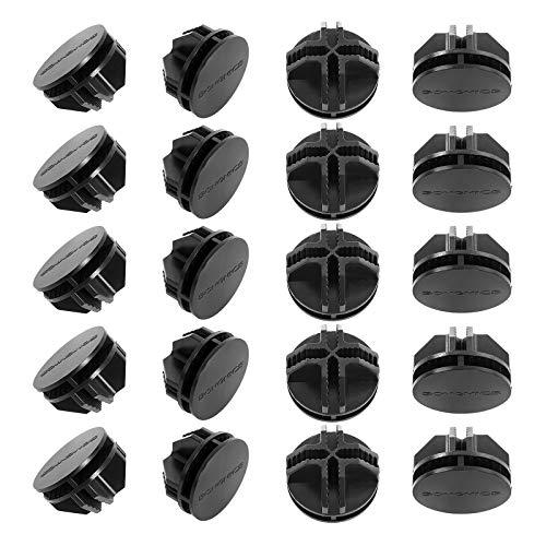 SONGMICS 20 x Pieza de unión Conector de plástico Accesorio para Armario Modular Negro ALPC0B-20