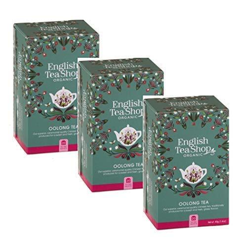 English Tea Shop Chinese Tea Oolong Organic - 3 x 20 Tea Bags (120 Grams)