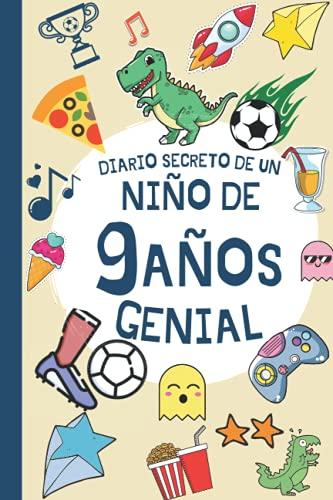 DIARIO SECRETO DE UN NIÑO DE 9 AÑOS GENIAL: Regalo Diario y tarjeta de cumpleaños niño 9 años en español ( fútbol dinosaurio infantil original )   ... de firmas y visitas de 9 años cumpleaños