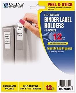 CLI70013 - C-line Self-Adhesive Binder Label Holder