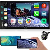 7inch Car Stereo Compatible with Apple Carplay DoubleDin Car Radio with Bluetooth Backup Camera, AndroidAutoTouchscreenRadioSystem Car Multimedia Player AM/FM,Mirror-Link,Voice Control