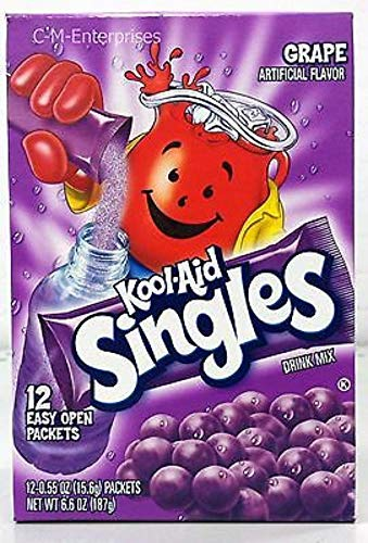 Kool-Aid Singles Grape, 12-Count Packets 6.6-Ounce (Pack of 6)