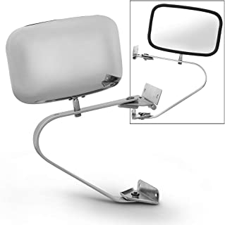 Acanii - Manual Non Heat Side View Chrome Mirror Driver + Passenger For Ford Bronco F-Series Pickup Truck Left or Right