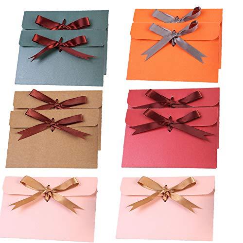 10 Piezas Sobres, Sobres de Colores Pequeños, Mini Sobres de Colores, para Bodas, Cumpleaños, Fiestas, Regalos(aleatorio)