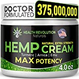Extra Strength Hemp Cream Pain Relief Rub – Only 3rd Party Tested Product To Verify Strength/Results. All Natural for Nerve-Sciatic, Muscle, Back Pain & Inflammation, with Arnica, MSM, Emu, Turmeric