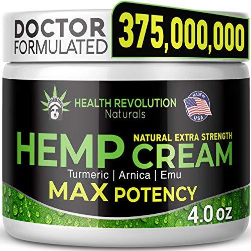 Extra Strength Hemp Cream Pain Relief Rub