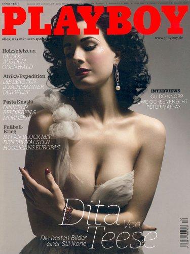 Playboy Dezember 2008, Magazin, original deutsche Ausgabe 12/2008, DITA VON TEESE, MIRIAM SCHWARZ