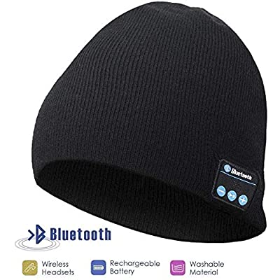 Bluetooth Beanie Hat, Gifts for Men, Women with...