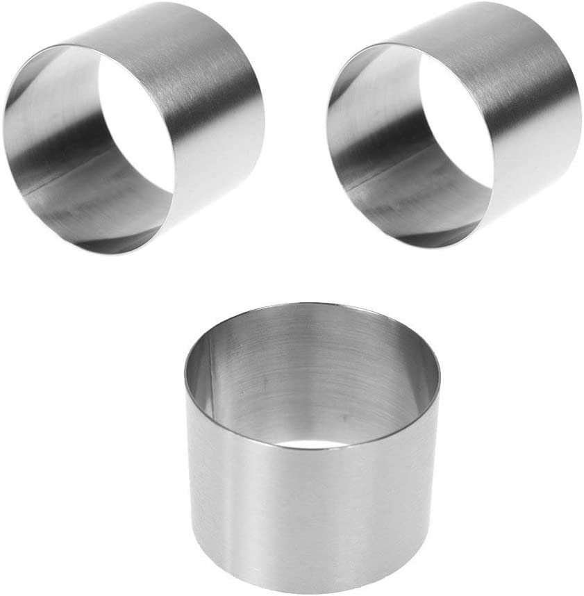 Reservation ICYANG 3 Pieces Max 53% OFF Stainless Steel Food Mini Mous Pastry Round Ring