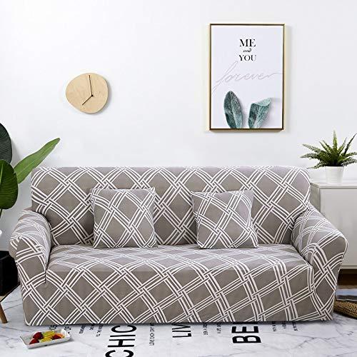 Funda de sofá Strecth con Estampado Floral Fundas de sofá de geometría elástica para Sala de Estar Fundas para sillón Funda de sofá A28 4 plazas