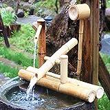 Fuente De Agua del Jardín del Zen Fuente De Agua De Bambú Bomba Oscilante Paisaje del Agua Decoración Japonesa del Jardín