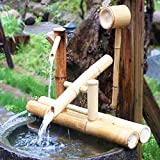 zenggp Zen Garden Water Fountain Bamboo Water Feature Rocking Pump Water Landscape,Japanese Garden...