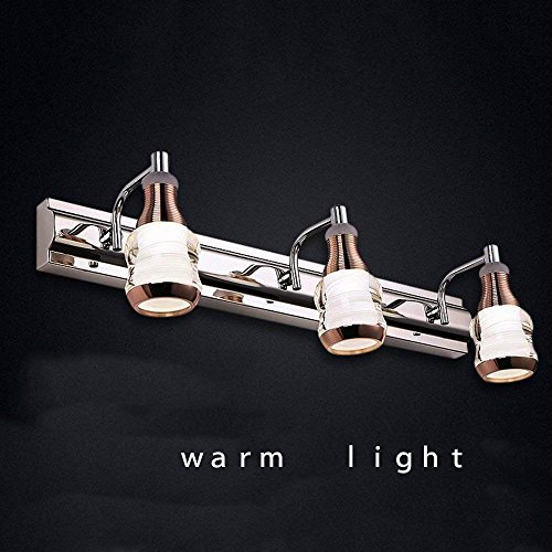 Allamp Inicio Espejo de baño Faros de LED Delantera de Espejo luz de Noche la lámpara de Pared de baño Espejo Luces Delanteras (luz Blanca/luz cálida): rotación de 360 Grados Incluye Bombilla, ESP