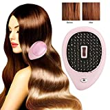 Electric Detangling Hair Brush, Portable Ionic Vibration Scalp Massaging Caring Comb for Anti-Static, Anti-Detangling and Scalp Head Massage (Pink)