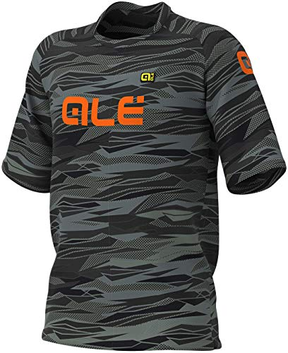 Alé Herren Off Road MTB T-Shirt, Black-Fluo orange, L