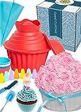 moule à cupcake géant omg - fournitures de décoration de gâteau extra large, sacs à douille
