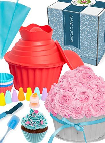 OMG Cupcake Molde Gigante - Gran diversión, Pastel Silicona Mold, Suministros para Decoración, Set de Regalo de Accesorios para Hornear y Escarchar de Gran Tamaño