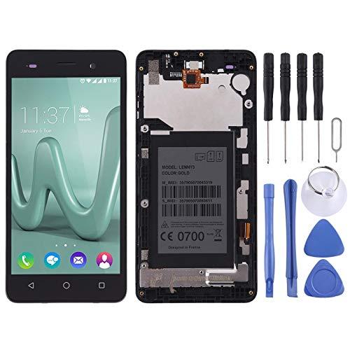 JIANGHONGYAN Accesorios telefonicos Montaje Completo de Pantalla LCD y Digitalizador con Marco para Wiko Lenny 3