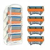 Gillette Fusion Lot de 16 lames de rasoir 5 couches pour homme avec 5 lames anti-friction pour un rasage à peine