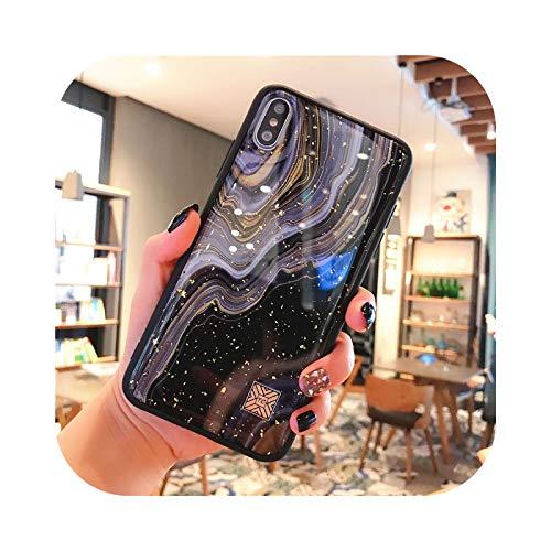 Carcasa de silicona para iPhone 11 Pro Xs Max X XR 6 6S 7 8 Plus de lujo, diseño de hojas doradas y hojas de madera