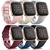 6 Pack Sport Bands Compatible with Fitbit Versa 2 /...